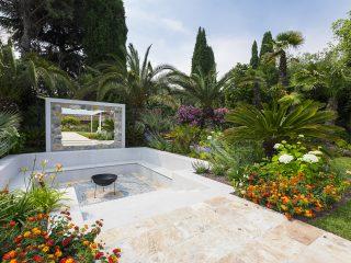 Progettazione giardino con area barbecue